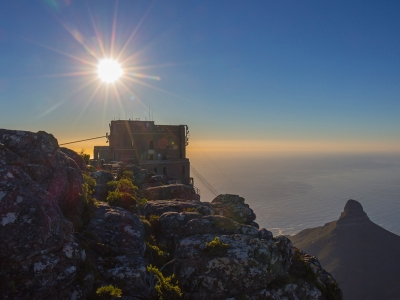Cable Car Station on Table Mountain, Cape Town